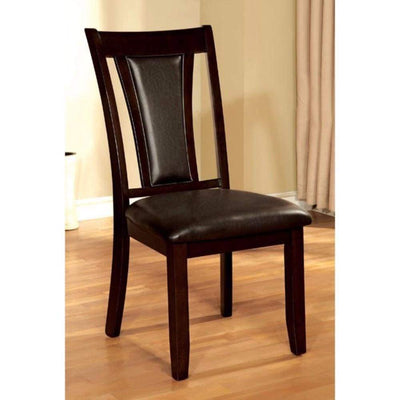 Brent Transitional Side Chair, Dark Cherry Finish, Set of 2 By Casagear Home