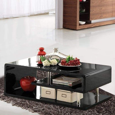 Ninove Contemporary Style Coffee Table, Black By Casagear Home