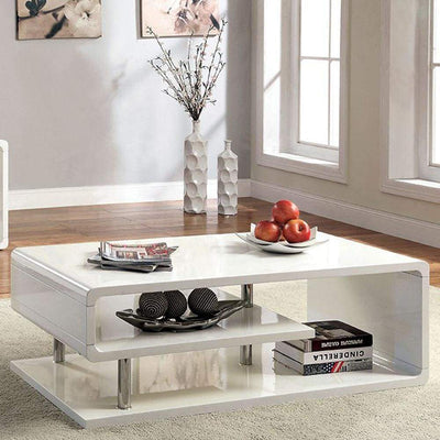 Ninove I Contemporary Style Coffee Table, White By Casagear Home