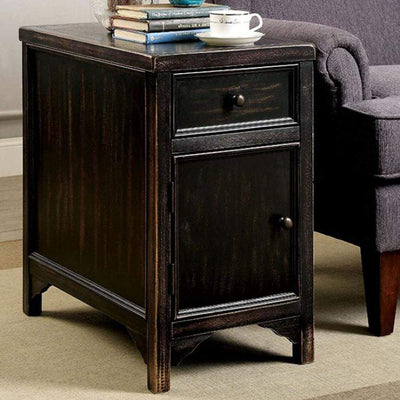 Meadow Transitional Style Side Table, Black By Casagear Home