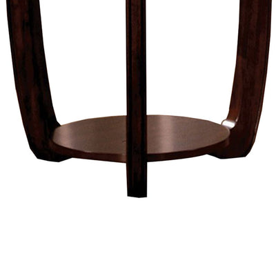 Crystal Falls Transitional End Table Dark Cherry FOA-CM4336E
