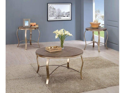 Wicklow Transitional 3 PIECE TABLE SET, CHAMPAGNE By Casagear Home