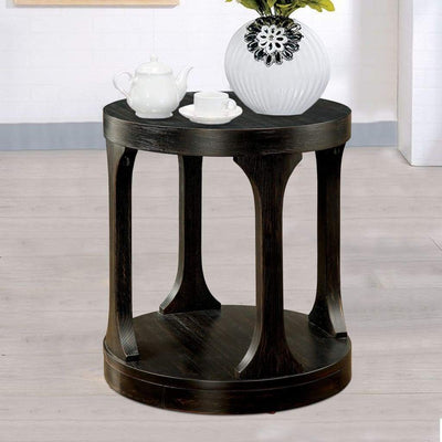 Carrie Transitional End Table, Antique Black By Casagear Home