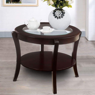 Finley Contemporary Style End Table, Espresso Finish By Casagear Home