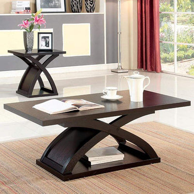 Arkley Contemporary Style Coffee Table, Dark Walnut By Casagear Home