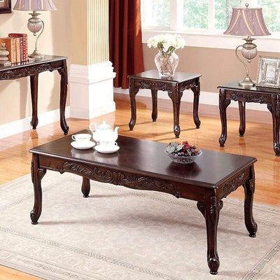 Cheshire Traditional 3 PIECE TABLE SET, Cherry Finish By Casagear Home
