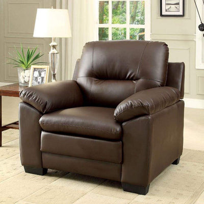 Parma Contemporary Chair, Brown By Casagear Home