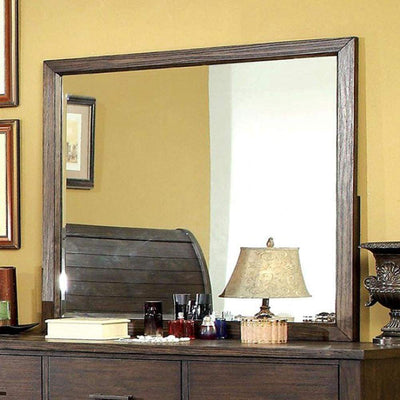 Ribeira Transitional Style Dark Walnut Finish Mirror By Casagear Home
