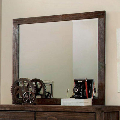 Rexburg Transitional Style Mirror, Brown By Casagear Home