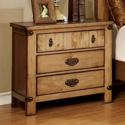 Pioneer Cottage Night Stand In Weathered Elm Finish By Casagear Home