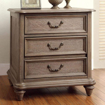 Belgrade I Transitional Night Stand In Rustic Natural By Casagear Home