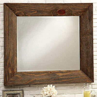 Coimbra Mirror In Rustic Natural Tone Finish By Casagear Home