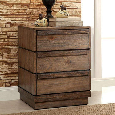 Coimbra Transitional Style Night Stand By Casagear Home