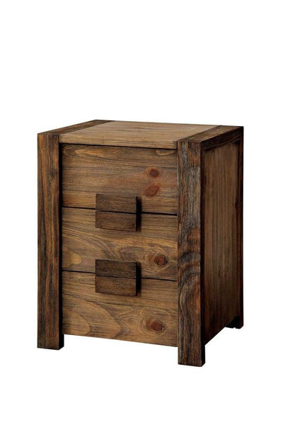 Janeiro Transitional Nightstand, Rustic Natural Tone By Casagear Home