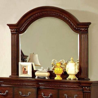 "Grandom 54"" Wide Traditional Style Dresser Mirror , Cherry By Casagear Home"
