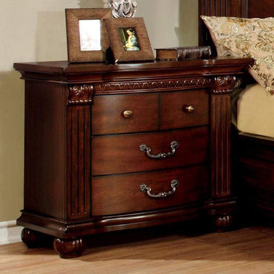 Grandom Night Stand, Cherry Brown By Casagear Home
