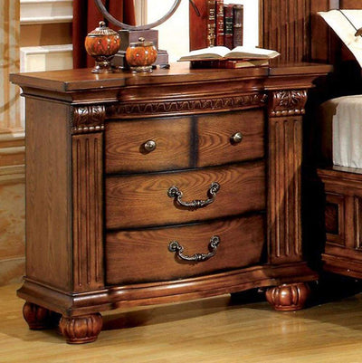 Bellagrand Transitional Night Stand, Antique Tobacco Oak By Casagear Home