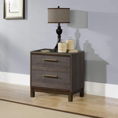 Manvel Contemporary Style Night Stand, Antique Gray By Casagear Home