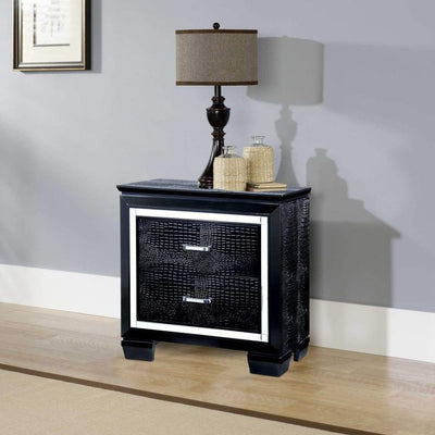Bellanova Contemporary Night Stand In Black By Casagear Home