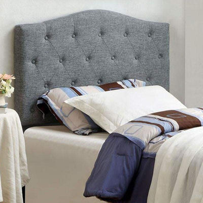 Alipaz Contemporary Full Queen Headboard, gray By Casagear Home