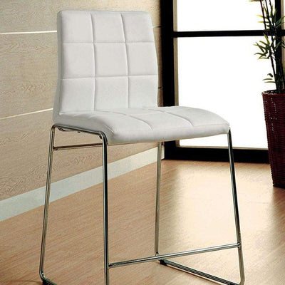 Kona II Contemporary Counter Height Chair, White Finish, Set of 2 - CM8320WH-PC-2PK