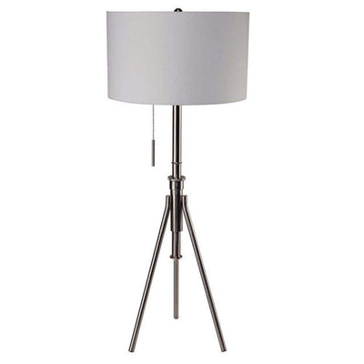 Zaya Contemporary Style Floor Lamp, Brushed Steel-L731171F-SV By Casagear Home
