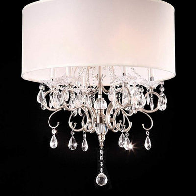 Sophy Traditional Ceiling Lamp, White and Chrome By Casagear Home