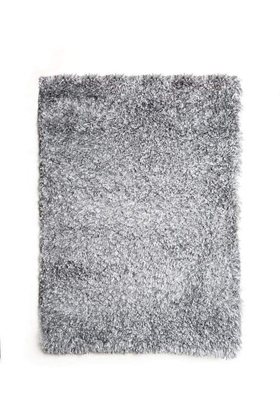 Contemporary Style Polyester Area Rug With cotton Backing, Gray