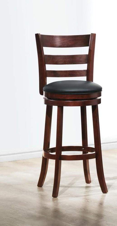 Swivel Wooden Pub Chair With Slatted Back In Cherry Brown HME-1144E-29S