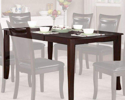 Contemporary Style Wooden Extension Dining Table, Dark Cherry Brown