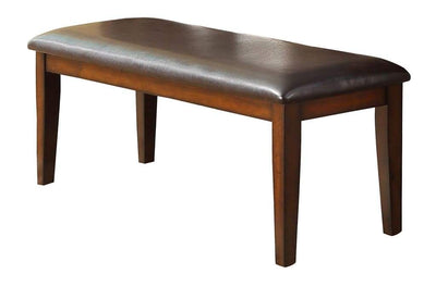 Mango Veneer Bench With Covered Seat, Brown