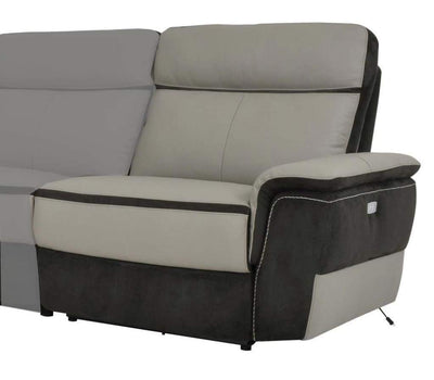 Right Side Power Reclining Chair With USB Port, Taupe Gray