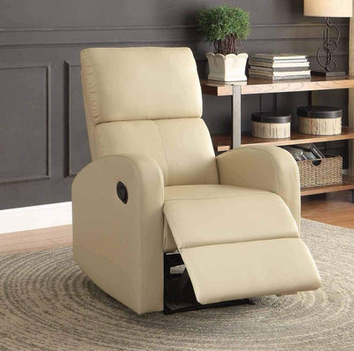 Reclining Armchair With Reverse Sloped Arms, Beige