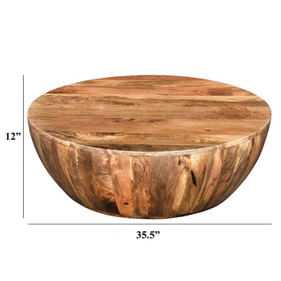 Mango Wood Coffee Table In Round Shape By The Urban Port UPT-32180