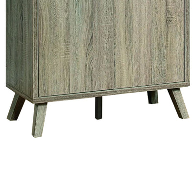 Roomy Shoe Cabinet With Flared Legs Dark Taupe Finish IDF-151139
