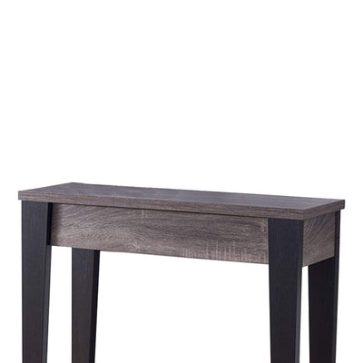 Wooden Console Table With Bottom Shelf Black And Gray IDF-161619