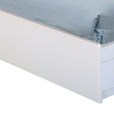 Luxurious Twin Size Chest Bed With 3 Storage Drawers White Finish. - Benzara IDF-Y1302T