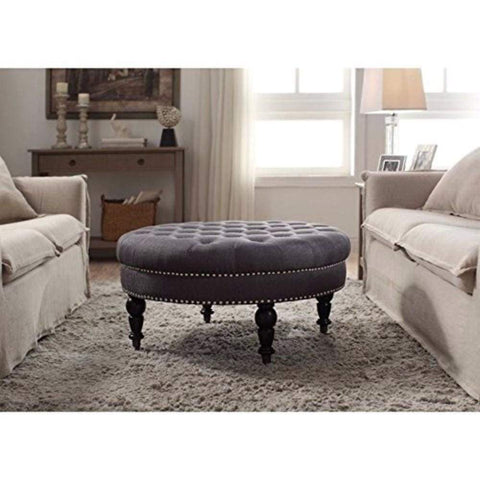 4D Concepts Wonderful Faux Leather Box Ottoman with Lift Top