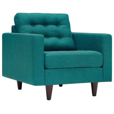 Empress Upholstered Armchair In Teal Blue