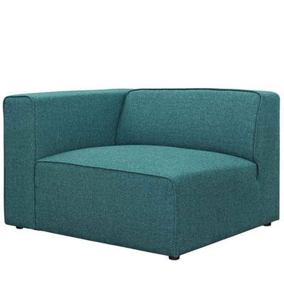 Appealing Mingle Fabric Armchair In Teal Blue
