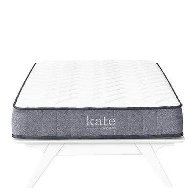 "Kate 8"" Twin Mattress In White And Gray"