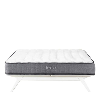 "Kate 8"" King Mattress In White and Gray"