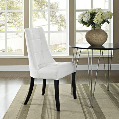 White Noblesse Dining Vinyl Side Chair
