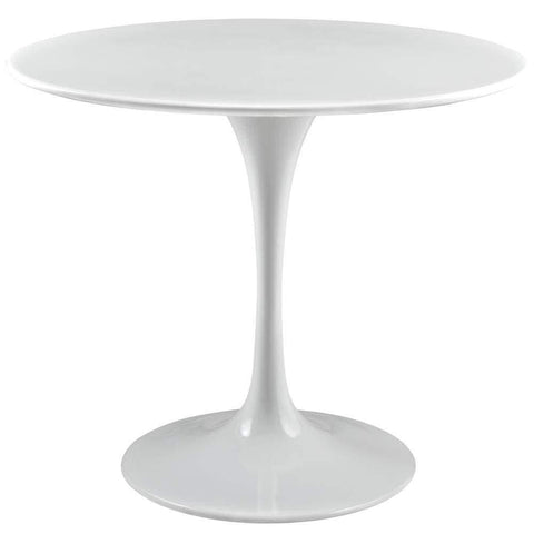 White Button Dining Chairs Set of 2
