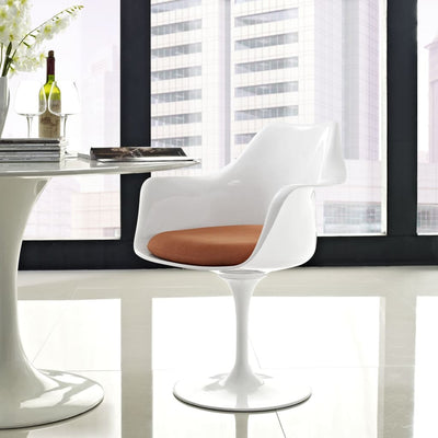 Lippa Dining Fabric Armchair Orange