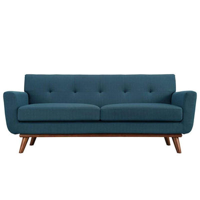 Engage Upholstered Loveseat, Azure