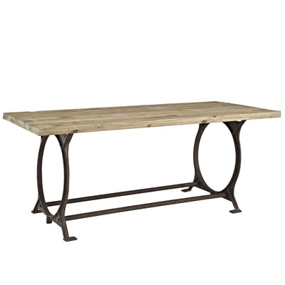 Effuse Rectangle Wood Top Dining Table Brown MDY-EEI-1205-BRN