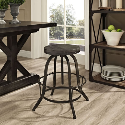 Collect Wood Top Bar Stool Black MDY-EEI-1208-BLK