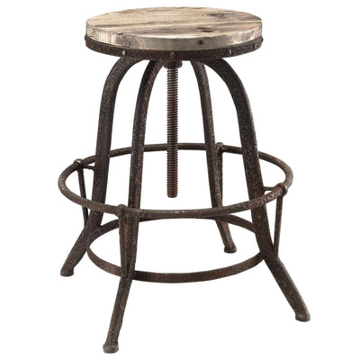 Collect Wood Top Bar Stool Brown MDY-EEI-1208-BRN