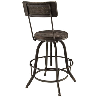 LexMod Procure Wood Black Bar Stool MDY-EEI-1212-BLK